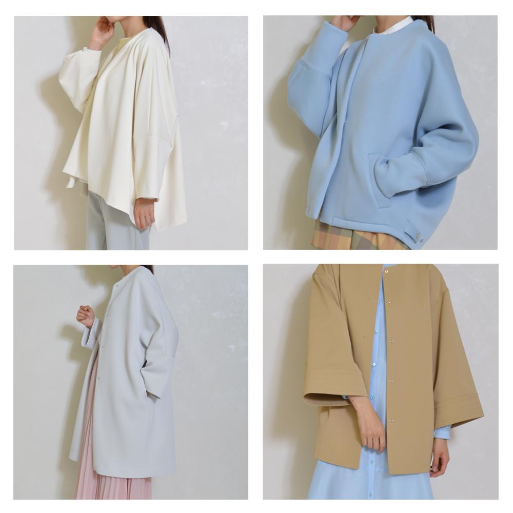 春色コート ライトアウター 大人かわいい服
